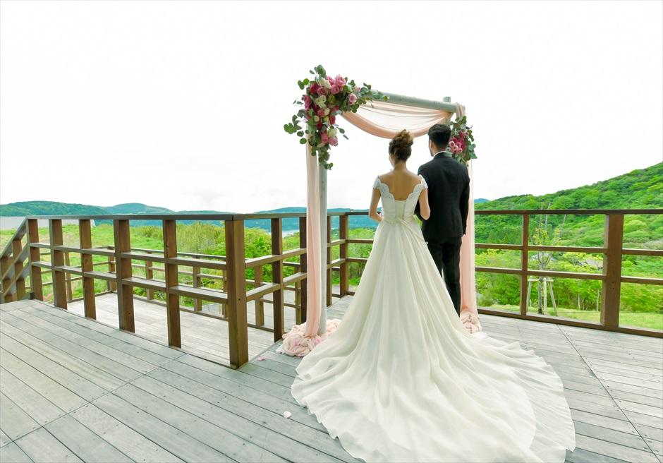 箱根結婚式ふたりだけ ときリゾート箱根別邸 アウトドアウェディング