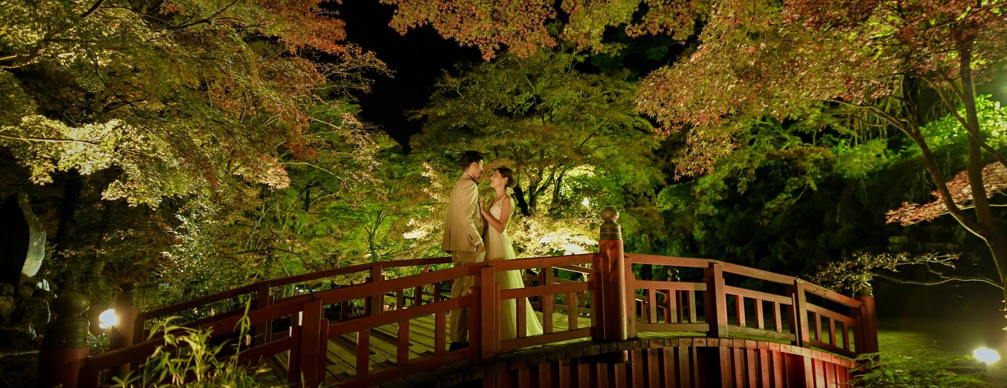 熱海ナイトフォトウェディング Atami Palm Garden Night Photo Wedding 熱海梅園前撮り ナイトショット