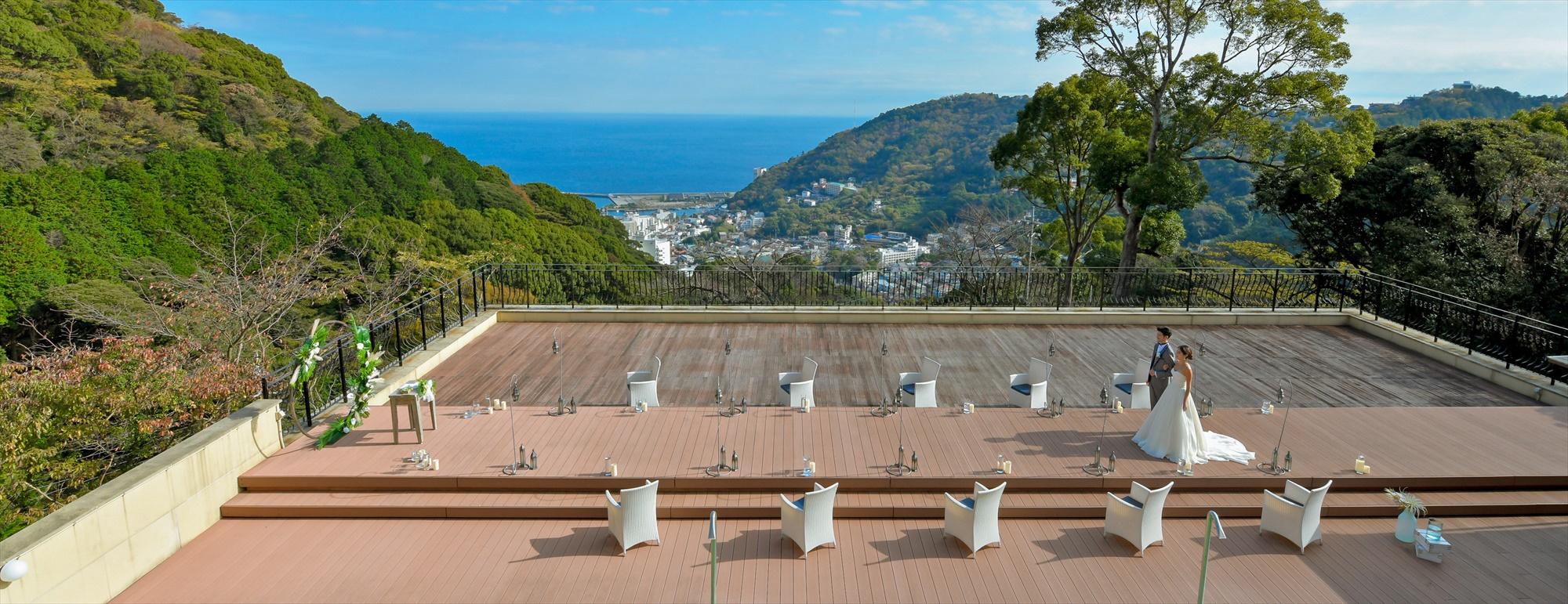 熱海結婚式 オーシャンビュー・デッキ Atami House Wedding Atami Spa & Resort 熱海スパ&リゾート 一棟貸切ウェディング