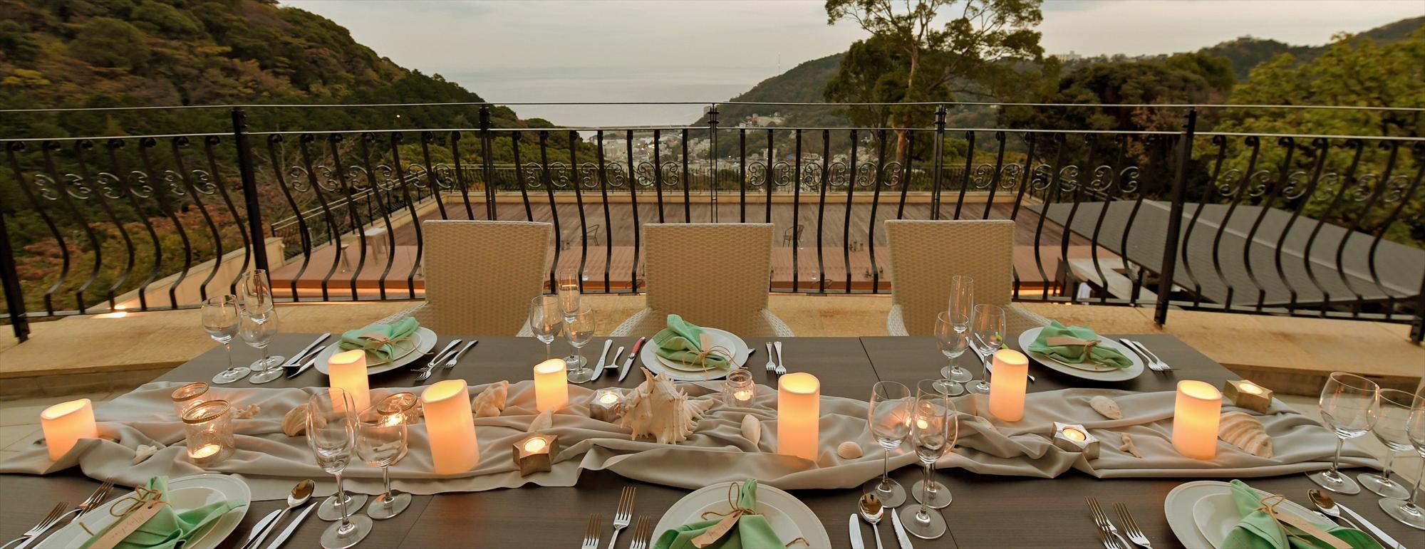 熱海貸切サンセット・ウェディングパーティー Atami Sunset Wedding Party Atami Spa& Resort 熱海スパ&リゾート 会場装飾