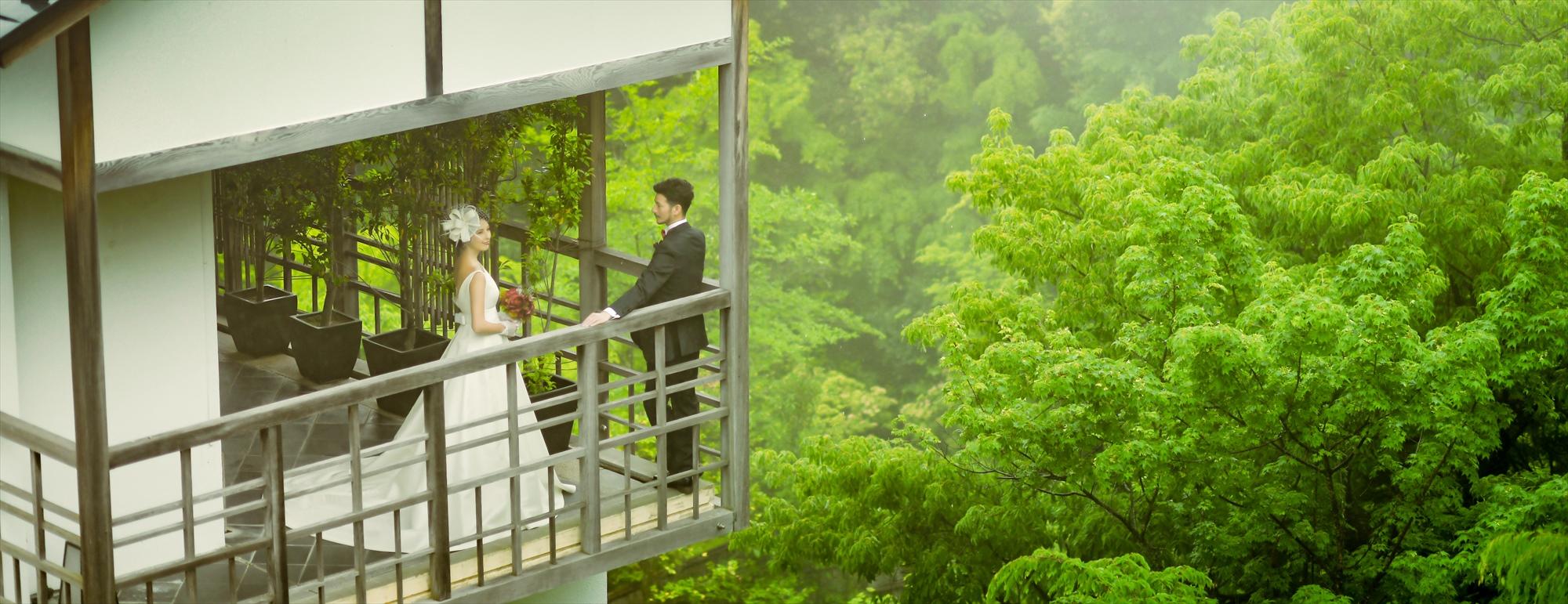 箱根・洋装ウェディング・フォト Hakone Gora Kadan Wedding Photo 強羅花壇前撮り 洋装敷地内撮影
