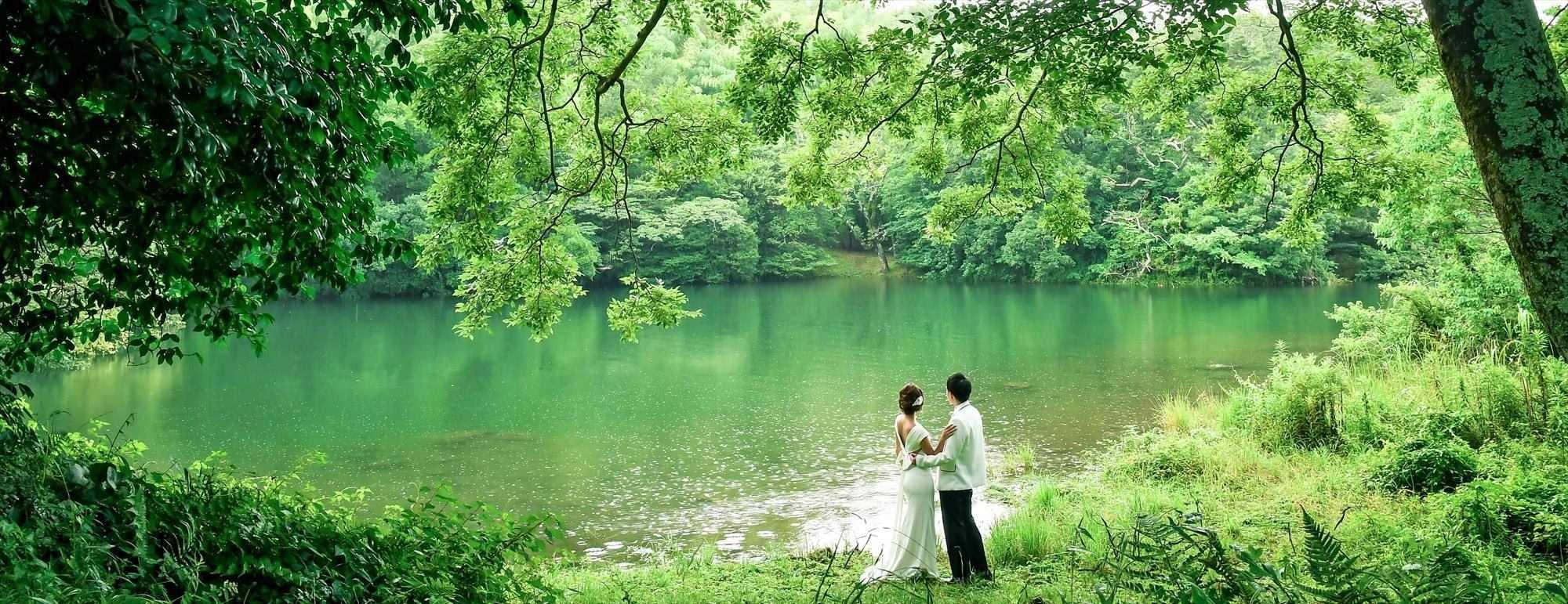 伊豆ロケーションフォト Izu Lake Ippeki location Photo Wedding 伊豆・一碧湖 フォトウェディング