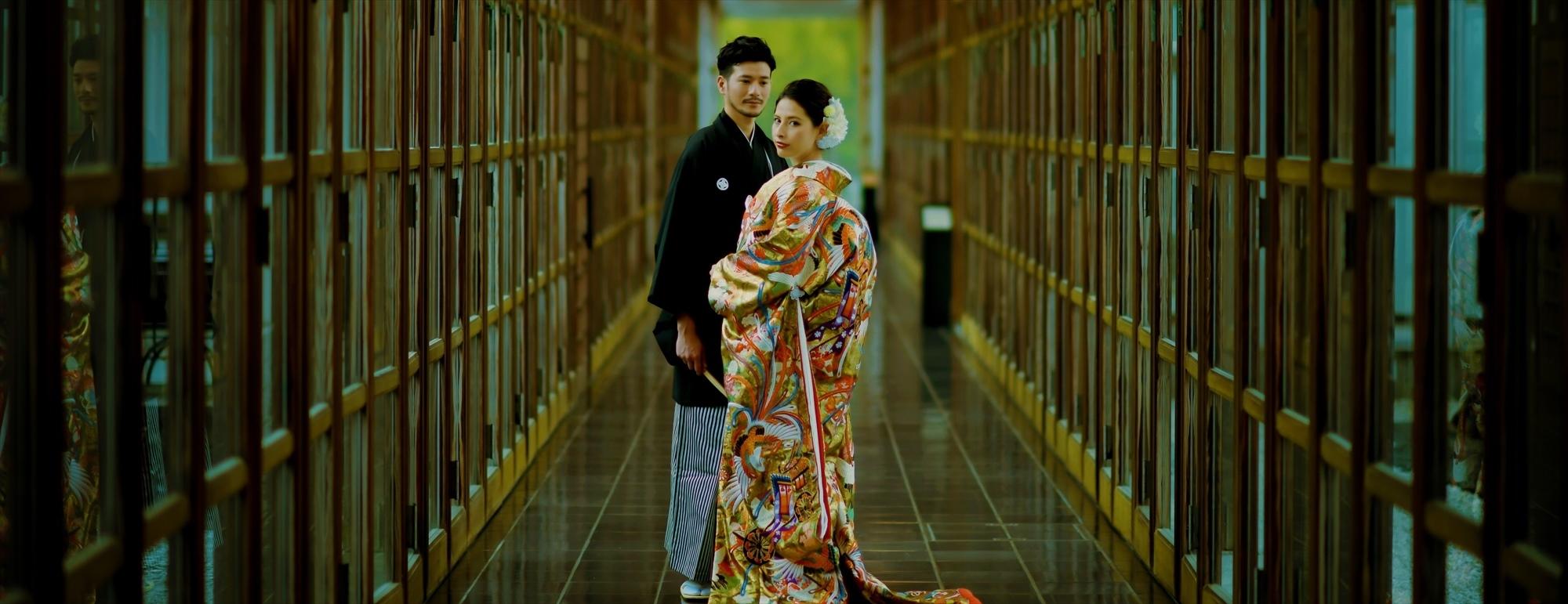 箱根・強羅花壇フォトウェディング Hakone Gora Kadan Photo Wedding 和装前撮り ホテル内