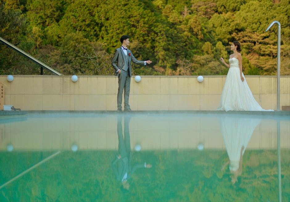一棟貸し結婚式場 熱海スパ&リゾート挙式 ウェディングフォト