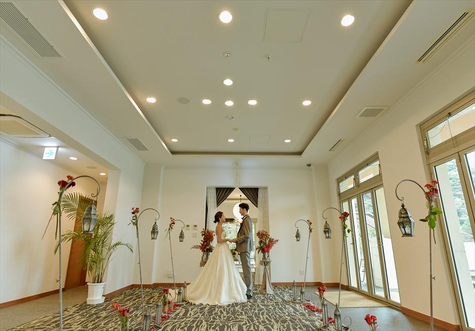 熱海結婚式屋内 熱海スパ&リゾート・ウェディング 挙式雨天時