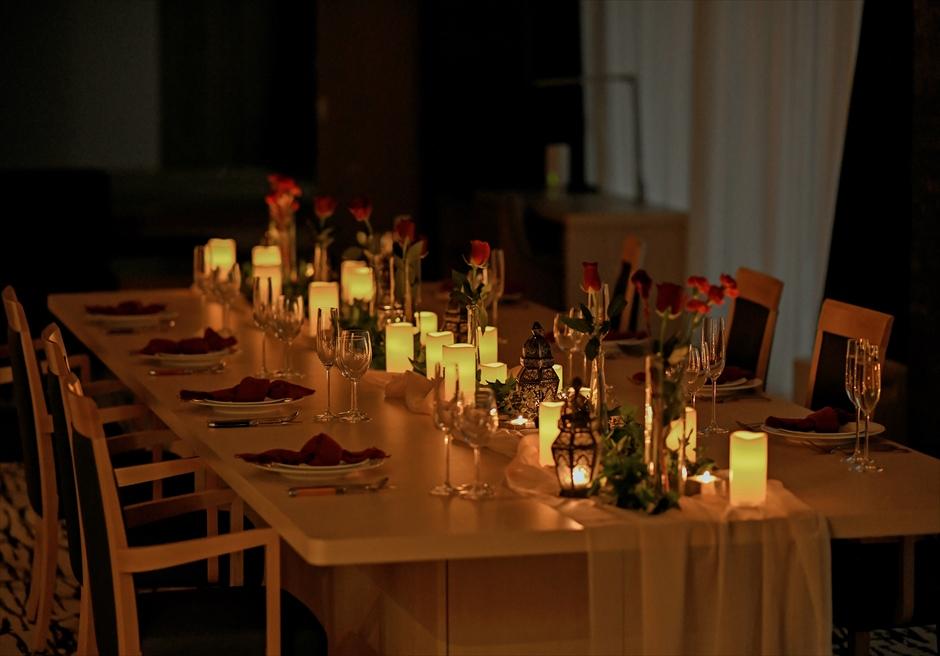 熱海一棟貸し結婚式場 披露宴会場全天候型 ウェディングパーティー装飾